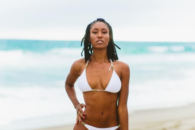 beautiful black woman flawless skin