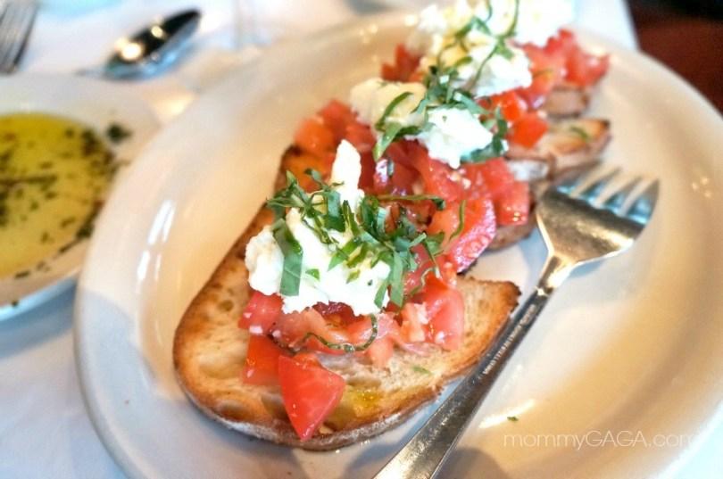 bruchetta tomato arugula, mia francesca