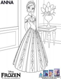 Disney's Frozen Movie coloring pages - Anna