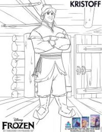Disney's Frozen movie printable coloring pages - Kristoff