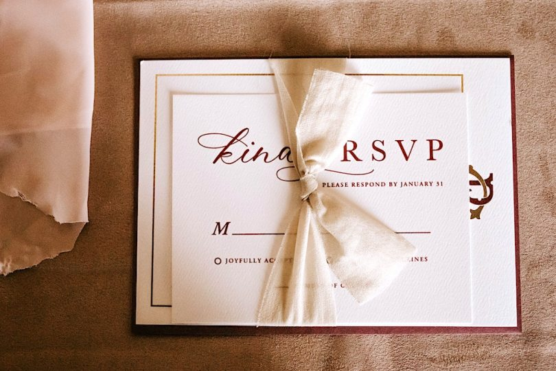 Holiday party invitation RSVP