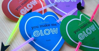 Cupid's Heart Glow Stick Valentines for Kids