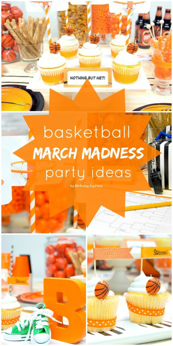 March Madness Basketball Birthday Party Ideas - everything you need for your next basketball theme party!
