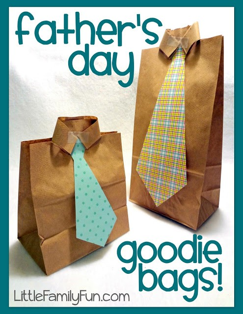 DIY Father's Day Goodie Bags, Little Family Fun