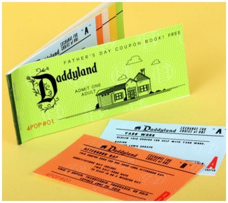Daddyland Father's Day Coupon Book, Disney