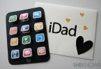 iDAD Father's Day card ideas with envelope