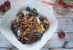 Homemade Cherry Pistachio Granola with Raisin Bran