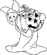 Free printable Halloween coloring pages for kids - Disney's Piglet from Winnie The Pooh