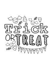 Trick or Treat free Halloween printable pages