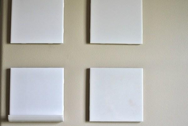 bare dry erase board tiles