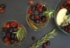 Cranberry Rosemary White Wine Christmas Sangria