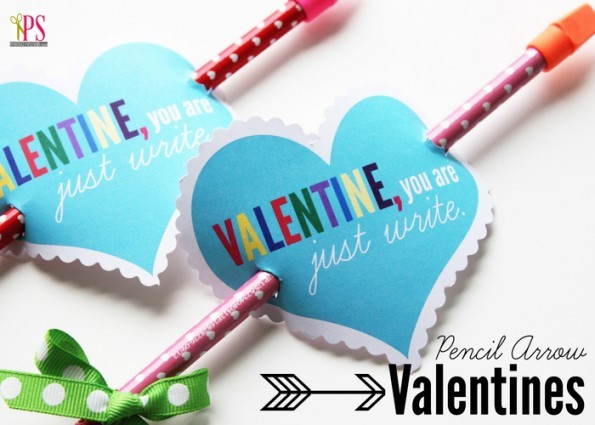 Pencil Arrow Valentines, Positively Splendid