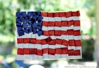 Fourth-of-July-Crafts-Tissue-Paper-Flag-Suncatcher, Formula Mom