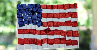 Fourth-of-July-Crafts-Tissue-Paper-Flag-Suncatcher, Formula Mom