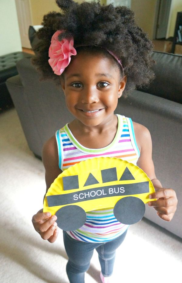 School bus arts and crafts for preschoolers project