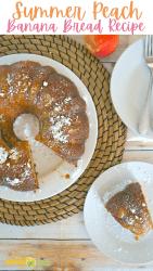 Summer Peach Banana Bread Recipe In A Bundt Pan