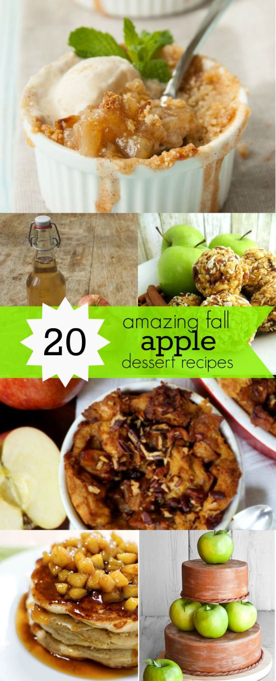 Fall apple desserts - 20 of the Best Apple Dessert Recipes to try this fall - you are going to love these fresh desserts made with apples!