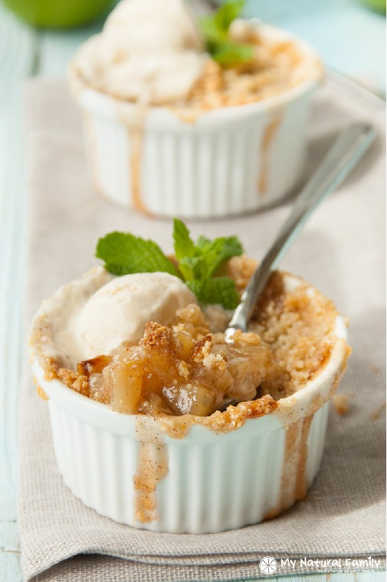 Desserts made with apples - Paleo Apple Crisp Recipe, My Natural Family