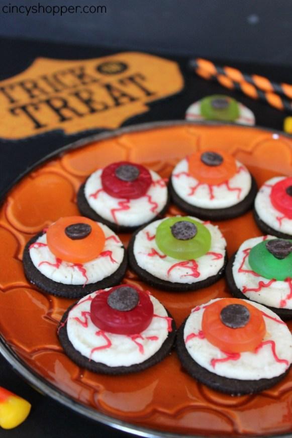 Halloween Oreo Eyeballs Recipe - spooky Halloween food