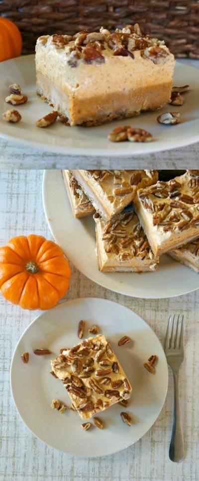 Easy Pumpkin Pie Bars with chiffon - Love This Pumpkin Dessert, pumpkin pie bars are the best! pumpkin pie squares   easy pumpkin bars   easy pumpkin pie recipes   pumpkin spice recipes   cool whip pumpkin chiffon pie   best pumpkin pie recipe   honeyandlime.co