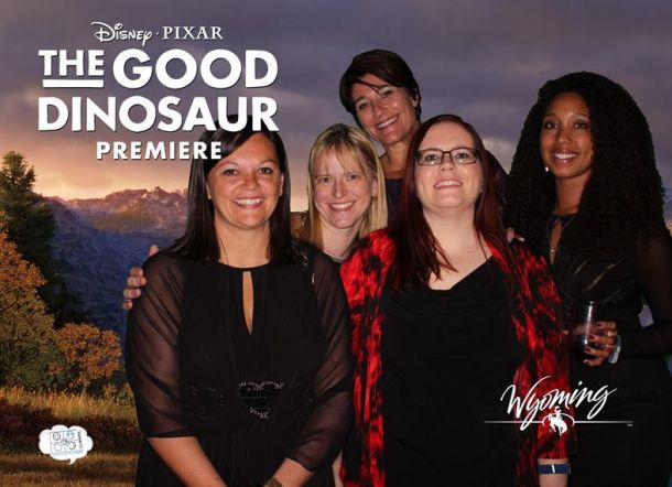 Photobooth fun at Disney Pixar's The Good Dinosaur World Premiere After Party, Los Angeles, CA 11-17-15