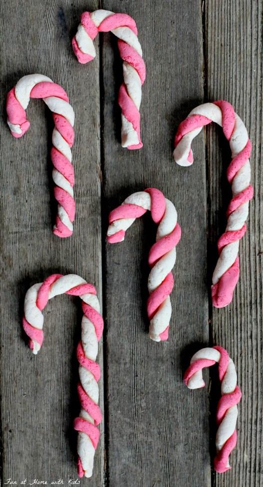 Salt dough candy cane craft for kids