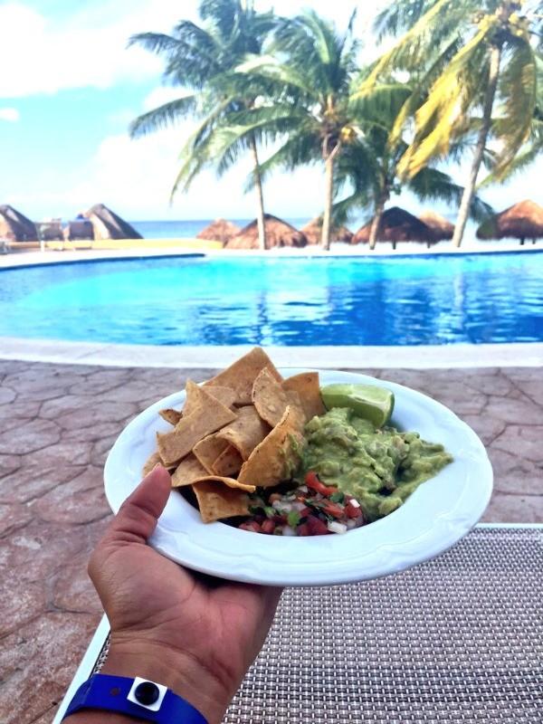 Chips and guacamole, Melia Cozumel Beach Resort, honey+lime