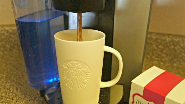 Making Starbucks hot cocoa in the Keurig machine