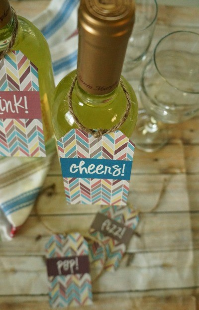 Cheers! Wine Bottle gift tag free printable