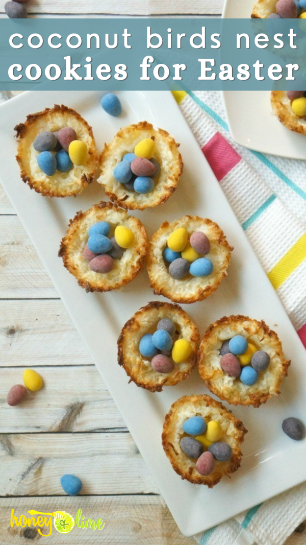 Easy Coconut birds nest cookies for Easter