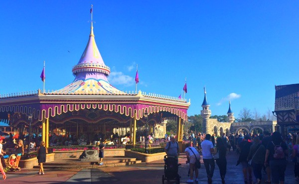 Disney's Magic Kingdon theme park, Prince Charming carousel ride
