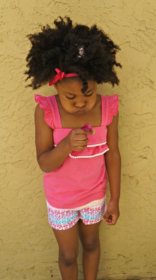 Girl wearing Garanimals spring clothes