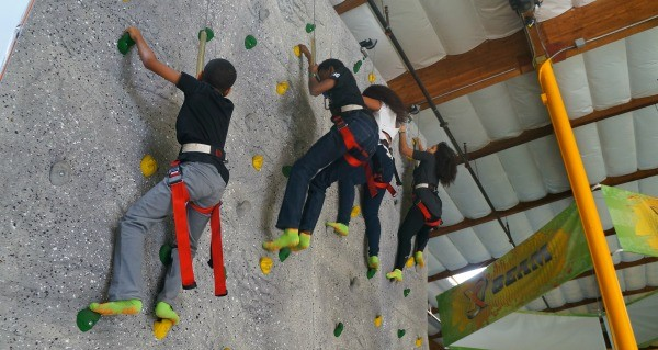 Rockin Jump San Diego rock climbing wall