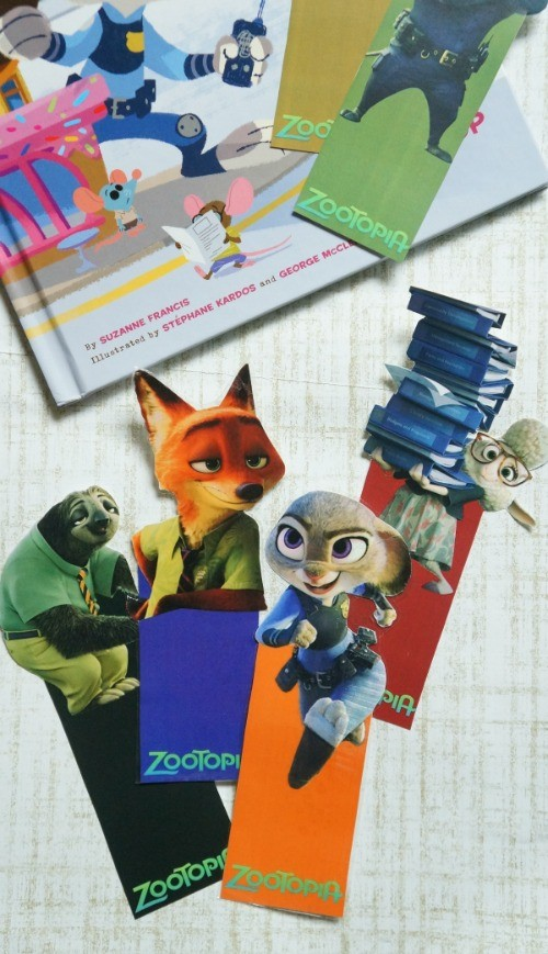 Free Disney's Zootopia printable bookmarks - these are so cute!
