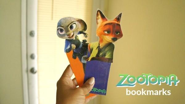 Disney's Zootopia printable bookmarks