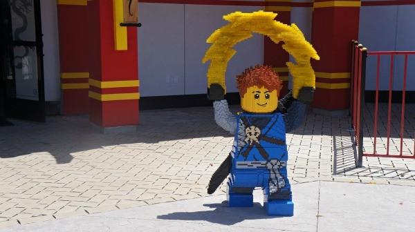 Legoland California Ninjago World LEGO ninja statue