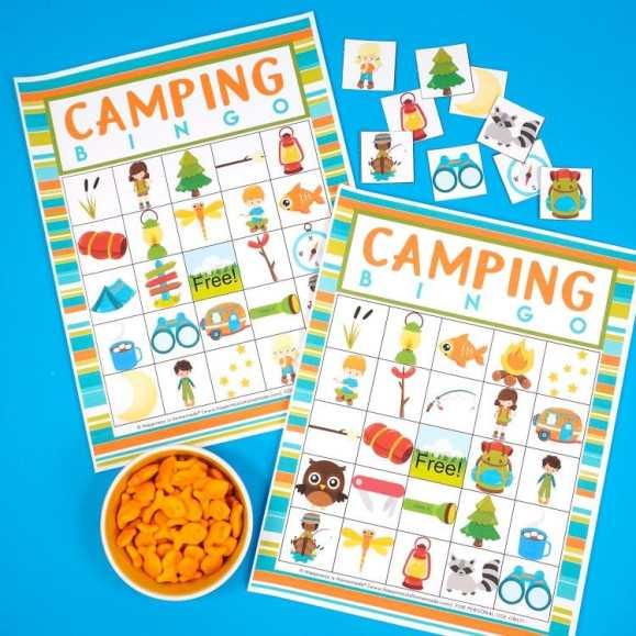 Camping Bingo Game Cards