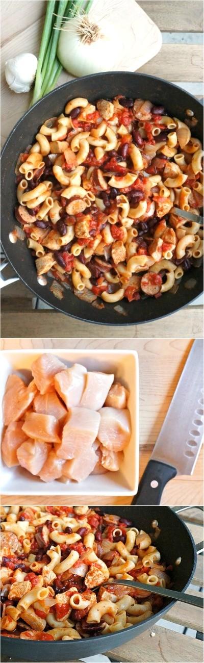 Omg, this one pot chicken chili pasta with sausage is sooooo good! My kids love it, one of the best hearty chili recipes, our favorite comfort food for sure