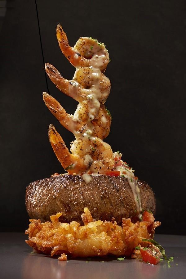 The best foods at Outback Steakhouse - shrimp sirloin steak tower