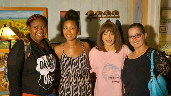 ABC's The Middle set visit, Nickida Stephens, Deanna Underwood, Patricia Heaton, Susan Simon