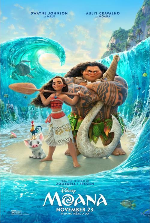 Disney's Moana movie, in theaters November 23, 2016