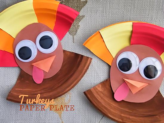 Paper plate turkey craft, Kid Things