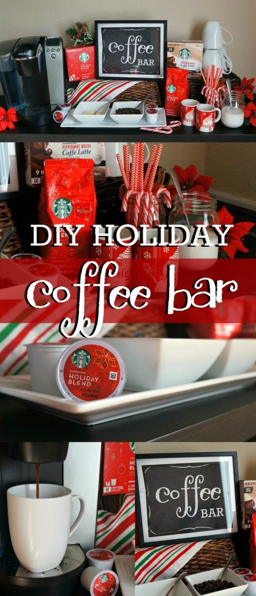 This holiday DIY coffee bar is the perfect way to entertain your guests this Christmas!