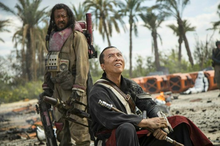Rogue One A Star Wars Story moive Chirrut Imwe and Baze Malbus