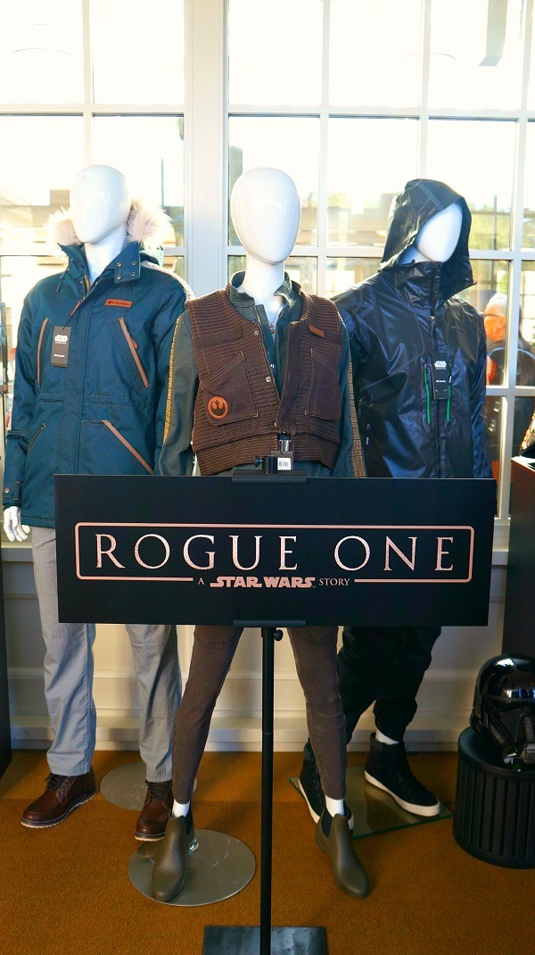 Rogue One Star Wars clothing and merchandise at Lucasfilm HQ, San Francisco, CA