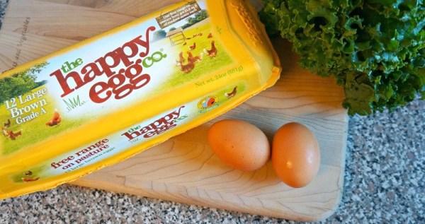 Fresh, free range eggs from the happy egg co.