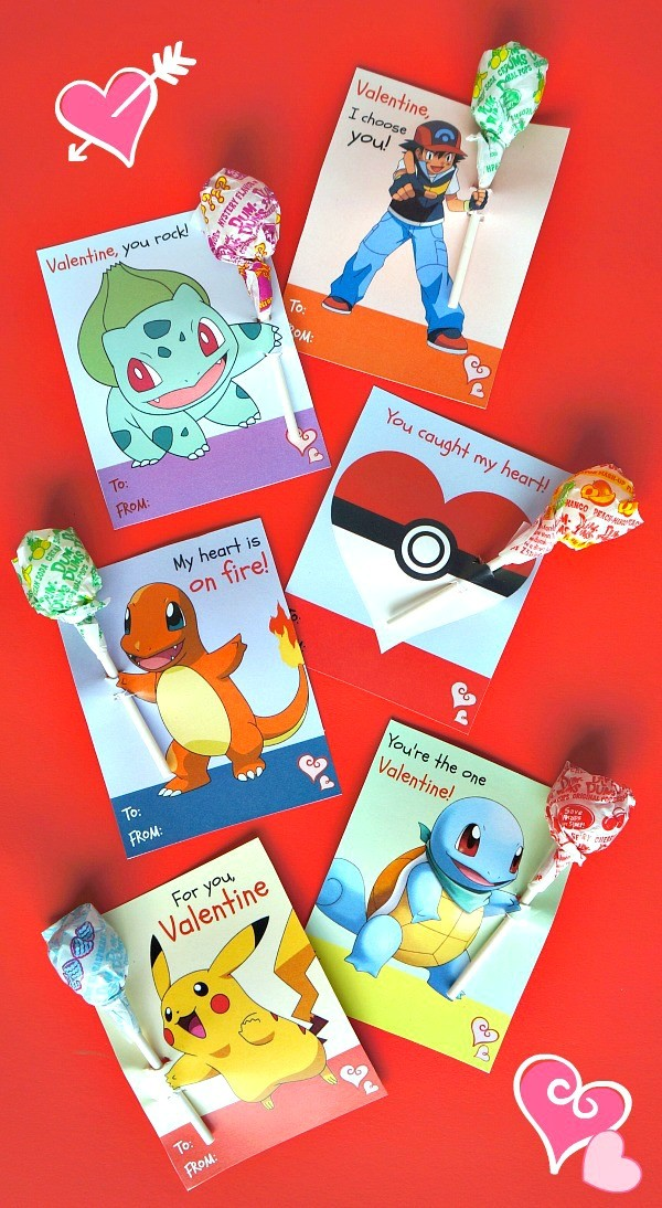 These free printable Pokemon Valentine's day cards are so ...