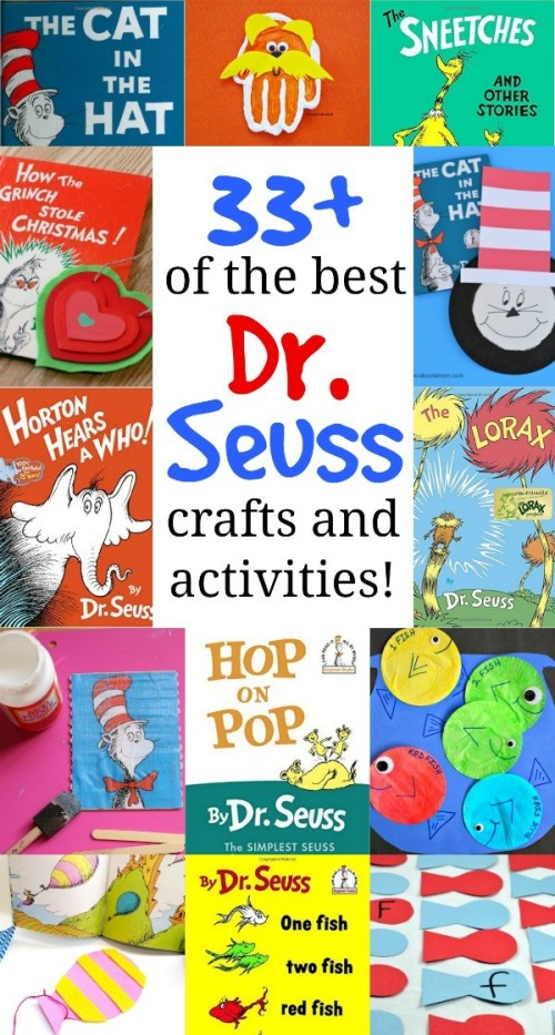 33+ Dr. Seuss Crafts and Activities + The Best Dr. Seuss Books to Read