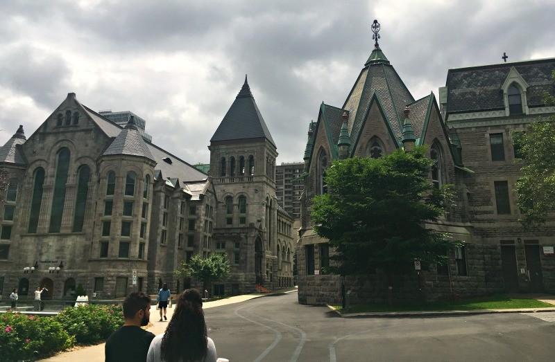 Hiking Parc du Mont Royal in Montreal, Quebec, McGill University