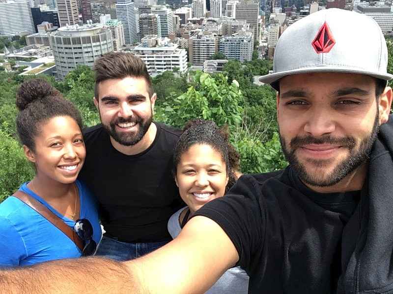 Hiking Parc du Mont Royal in Montreal with friends